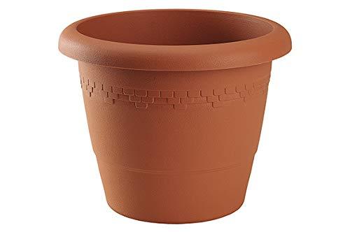 Cache-Pot Pot De Fleurs Céramique 5 L bauchiger Pot De Plantation hauteur 20,5 cm Noir