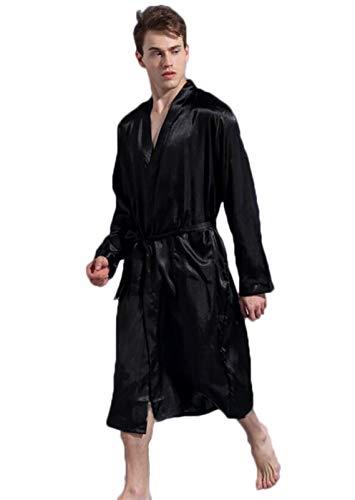 DAFREW Männer Normallack Gewand, Dünne Art, Lose Große Strickjacke Pyjamas,...