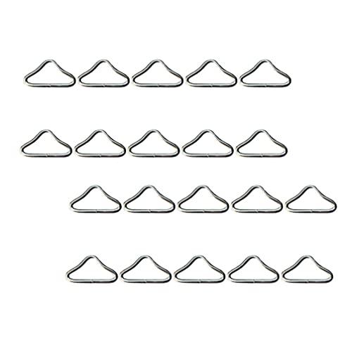 Happyyami 40Pcs Öffnen Dreieck Jump Ringe Trampolin Dreieck Schnalle Gurtband Tasche Verschluss Handtasche Strap Der Hardware DIY Schmuck Erkenntnisse Silber