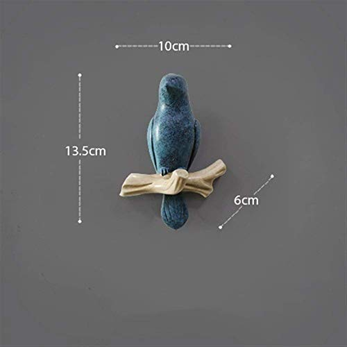 Wandgarderobe Vogelhaken 13 5 * 10 * 6 cm Türhaken Türgarderobe Schlüsselablage (Farbe: D Größe: Ein Vogel)