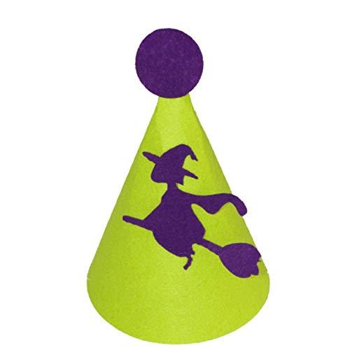 Molinter Sombrero de bruja para nios, para Halloween, fiesta mgica, cosplay, disfraz, accesorio sacapuntas para nios, nias, estudiantes (morado)