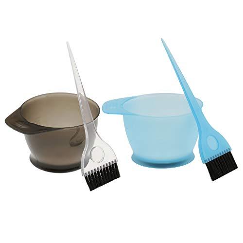 SM SunniMix 2pcs/Kit de Bol Brosses Peigne Colorations Teinture Couleur Cheveux Outil Salon de Coiffures