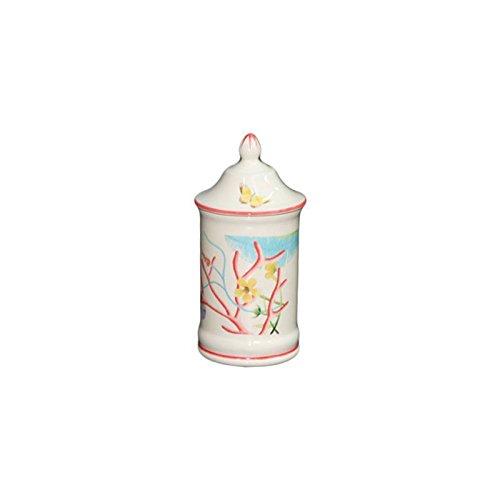 Faïencerie de Niderviller ~ Pot Fleurs de Corail faïence H15,5cm