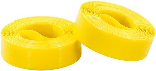 PEARL sports Fahrradreifen Schutz: Pannenschutzeinlage für Fahrradreifen, 19 mm (gelb) (Reifenschutz Fahrrad)