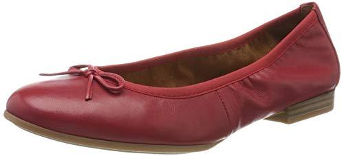 Tamaris Damen 1-1-22116-24 Geschlossene Ballerinas, Rot (Chili 533), 39 EU