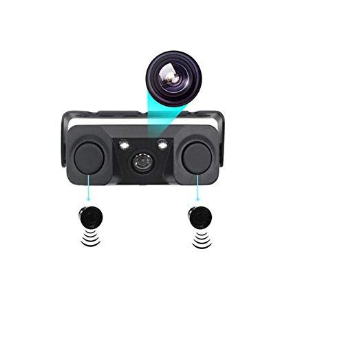 RJJX 170 Grados 3 en 1 Video Estacionamiento Sensor Coche Reversa Copia de Seguridad Trasera Cámara (Color Name : Black)