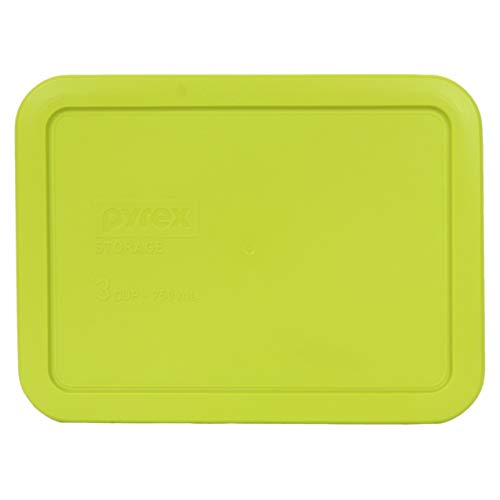 Pyrex 7210-PC 3 Cup Edamame Green Rectangle Plastic Food Storage Lid