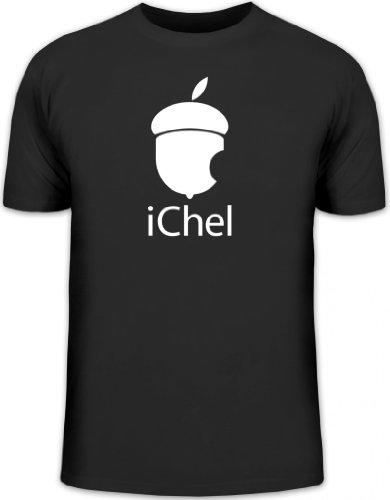 Shirtstreet24, iChel, Herren T-Shirt Fun Shirt Funshirt, Größe: S,schwarz