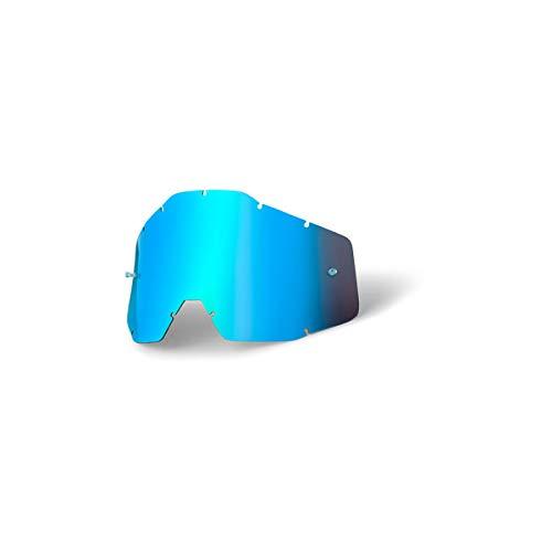 100% RACECRAFT/ACCURI/STRATA Ersatzlinse Spiegel/ Anti-Nebel, Blau , Größe One Size