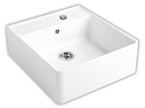 Villeroy & Boch Spülstein Einzelbecken Weiß (alpin) Keramik Küchenspüle Aufsatz