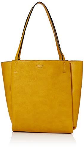 Bessie London Damen Vintage Bucket Tassel Shoulder Bag Schultertasche, Gelb (Yellow), 8x29x22 Centimeters