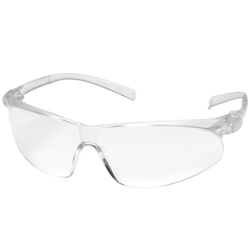 3M Virtua Sport Protective Eyewear, 11385-00000-20 Clear Hard Coat Lens, Clear Temple (Pack of 20)