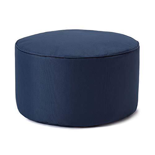 Lumaland Taburete de Interior y Exterior, puf, Silla, Impermeable - Azul Marino