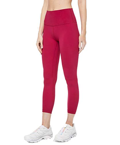 Lululemon Align II Stretchy Yoga Pants - High-Waisted Design, 25 Inch Inseam, Ruby Red, Size 10