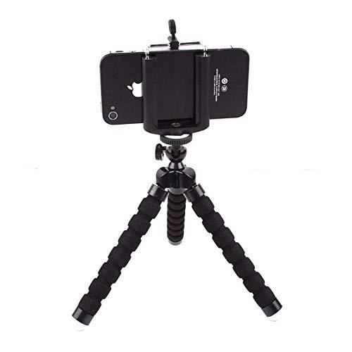 ZWWZ Teléfono trípode, Soporte Extensible y un trípode for cámaras DSLR SLR compatibles y iPhone Android teléfono, Negro MISU