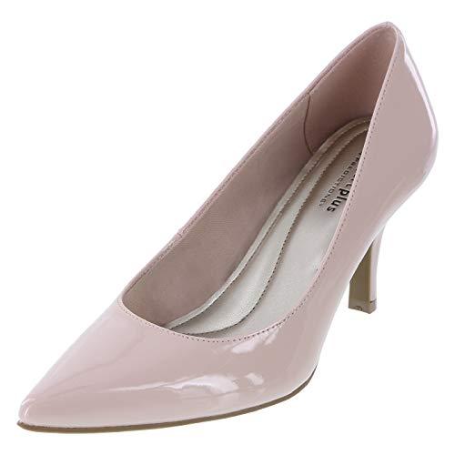 Predictions Comfort Plus Women's Blush Patent Janine Pointy Toe Pump 6.5 Regular