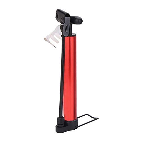 Kaikai Bomba de Bicicleta Portable, Mini portátil de aleación de Aluminio de neumático de la Bicicleta de la Bomba, Utilizado for Baloncesto, fútbol Americano, Carreras, Montaña, Negro (Color : Red)