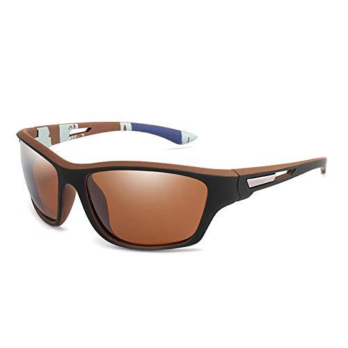 NJJX Gafas De Sol Polarizadas Para Hombre, Deportes Al Aire Libre, Gafas De Conducción, Gafas De Sol, Protección Uv, Gafas Masculinas, Espejo C6Tea