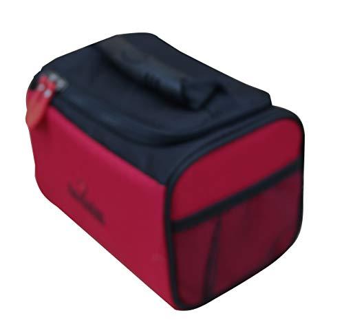 Acclaim Ripon Bowlingtasche, für zwei Näpfe, starr, gepolstert, Nylon, Grün, Rot/Schwarz