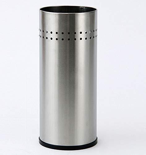 Guog - Paragüero de almacenamiento de acero inoxidable cepillado para el hogar, vestíbulo, hotel, metro, bastón de almacenamiento