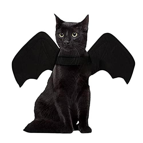 FECHO Alas De Murciélago, Alas De Murciélago De Gato, Disfraz De Halloween para Mascotas, Alas De Murciélago De Halloween, Alas De Murciélago Vampiro, Campanas, Ropa para Mascotas