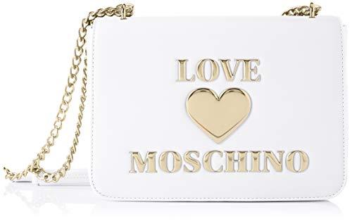 Love Moschino Ss21 Sac à bandoulière pour femme, collection printemps été 2021, Normal - - Blanc, Normal EU