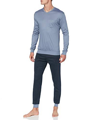 CALIDA Herren Relax Streamline 3 Pyjamaset, Flint Stone, S