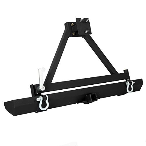 Rear Bumper with Tire Carrier&D-Rings Off-Road Compatible With Jeep Wrangler TJ YJ LJ 1987-2006