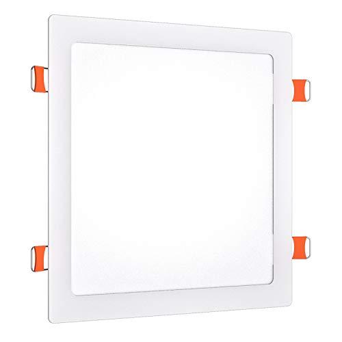 LEDme-downlight cuadrado slim blanco 24w 4000k luz neutra, 2480lm 120°, SMD 2835,...