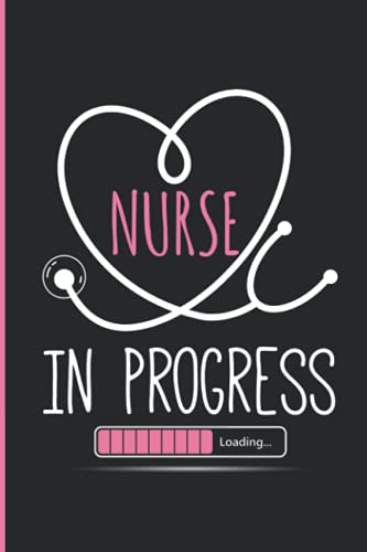 Nurse in Progress Laoding: Lined Notebook journal /Gift, 120 Pages 6x9 Soft Cover, Matte Finish ,Funny Quote Gift for Nurses, Nursing School or ... Card For Birthday, Mother's day, Christmas.