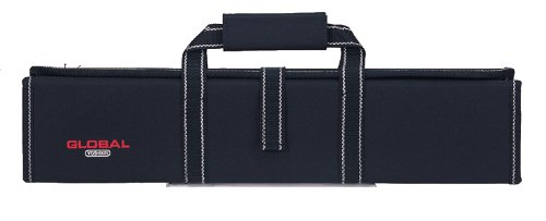 Global G-667/11-Knife Case with Handle and 11 Pockets, 1, Black