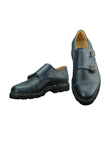 [パラブーツ] ダブルモンクシューズ WILLIAM ウィリアム ネイビー ブルー メンズ靴 7サイズ(26.0cm)