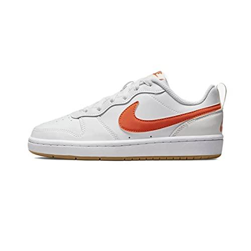 Nike Court Borough Low 2, Zapatillas de bsquetbol, White Orange Summit White Sail, 39 EU