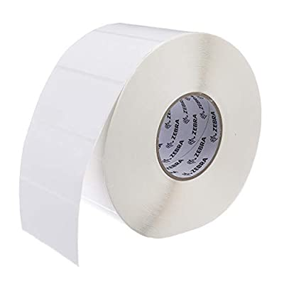 Zebra - 4 x 2 in Thermal Transfer Polypropylene labels, PolyPro 3000T Permanent Adhesive Shipping labels, Zebra Industrial Printer Compatible, 3 in Core - 4 rolls - 10031659SP