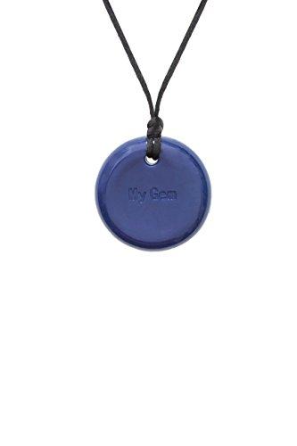 Collier antistress Chewigem avec bouton sensoriel à mâchouiller - Jouet de mastication...