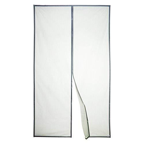 Apalus Magnet Fliegengitter Tür Insektenschutz 140x240cm, Der Magnetvorhang ist Ideal für die Balkontür, Kellertür und Terrassentür, Kinderleichte Klebemontage Ohne Bohren, Nicht Kürzbar, Grau
