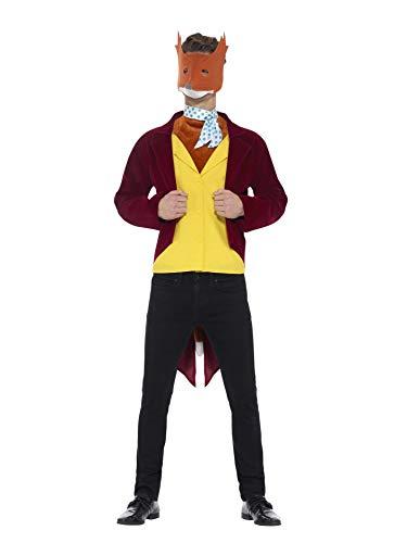 Smiffys 42851L - Herren Fantastic Mr Fox Kostüm, Größe: L, rot