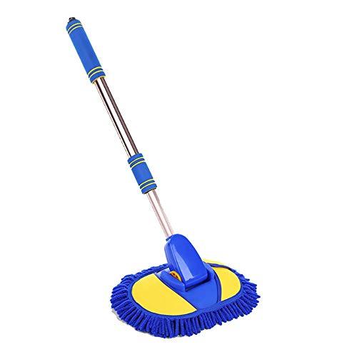 RUIX Autowaschbürste Langer Griff Versenkbar, Multi-Funktions-Extended Griff Auto Wasser Clean Wash Brush Mop