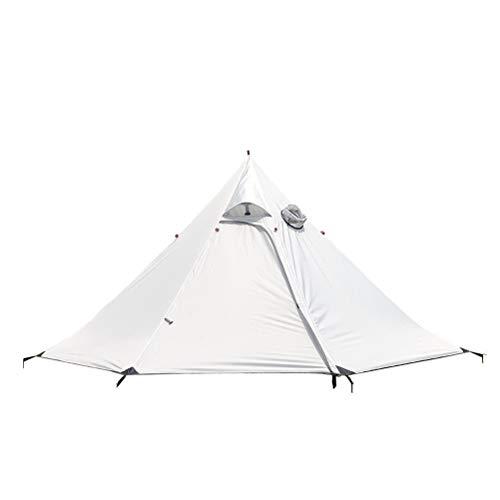 Goushi Carpa para Acampar Al Aire Libre Luz Grande 3/4 Personas Mochila Carpa Carpa Impermeable Carpa para 4 Estaciones Camping Senderismo Viajes (Color : White)