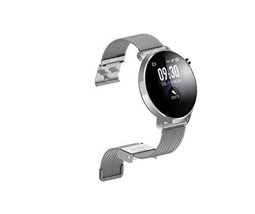 LOO LA Intelligente smartwatch, polshorloge, armband, kleurendisplay, stappenteller met hartslagmeter, calorieverbruik, slaap, voor Android en iOS