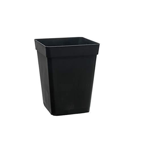 Maceta cuadrada negra de cultivo - 20x20x27cm (7L)