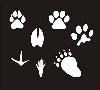 7 ANIMAL TRACKS STENCIL Snazaroo Face Painting Stencil