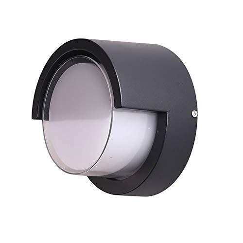 Lámpara de Pared Para Exteriores Ronda de luces LED de pared modernos, metal y material acrílico balcón exterior de pared exterior simple impermeable de la iluminación, for sala de estar Dormitorio Pa