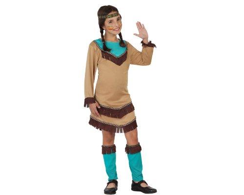 Atosa-23799 Disfraz India, color marrón, 10 a 12 años (23799)