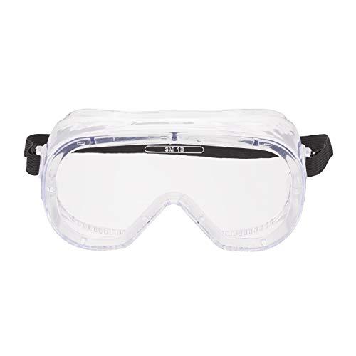 3M 4800C Vollsichtschutzbrille für Farbstreich- und Handschleifarbeiten, Schutz gegen Spritzer, Antibeschlagbeschichtung, klare Polycarbonatscheiben