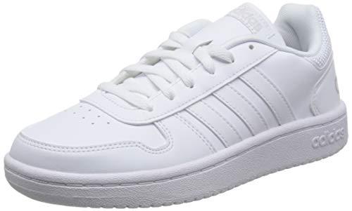 adidas Damen Hoops 2.0 Fitnessschuhe, Weiß (Ftwbla/Ftwbla/Ftwbla 000), 41 1/3 EU