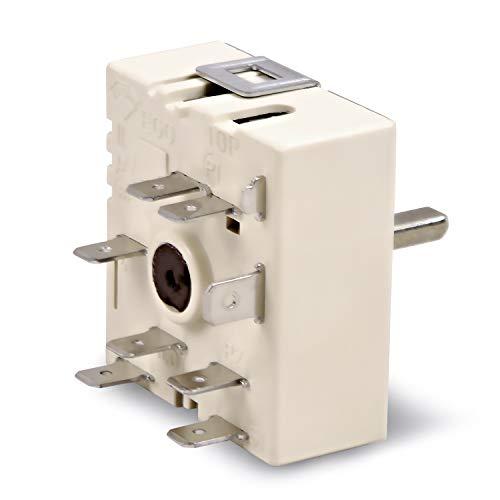 Energieregler Regler Kochplattenschalter Ersatz für EGO 50.57021.010 230 Volt Einkreis für Kochfeld Herd Miele AEG Bosch Siemens Neff Ignis