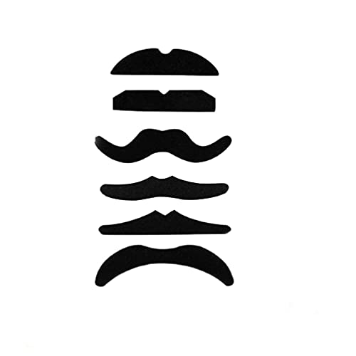 IMIKEYA 6pcs Fake Mustaches Self Adhesive Novelty Mustache Funny Beard Whisker Toy for Halloween Masquerade Fiesta Costume Party Supplies