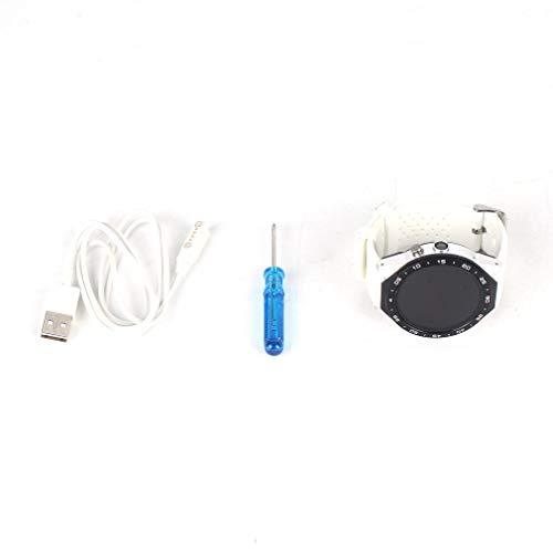 HehiFRlark Reloj Deportivo Inteligente 3G con Pantalla Redonda de Alta definición, Reloj con Pantalla táctil, Blanco y Plateado