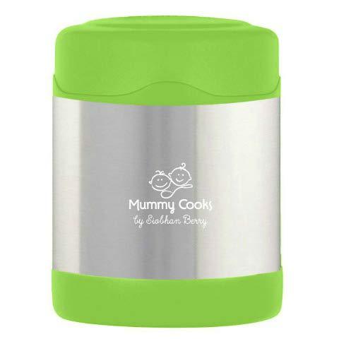 Mummy Cooks - Isoliergefäß, Edelstahl, 300 ml (grün) - MIT GRATIS STICKERS